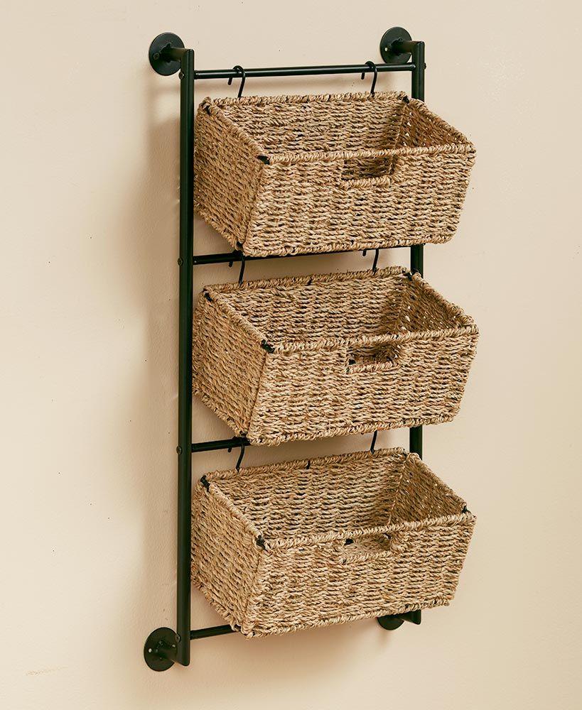 decorazioni fai da te portaoggetti verticale cestini