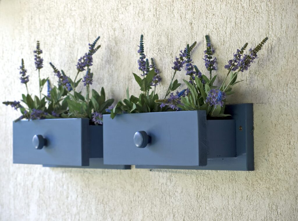 decorazioni fai da te cassetti portafiori