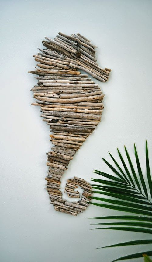 decorazioni fai da te cavalluccio marino legnetti