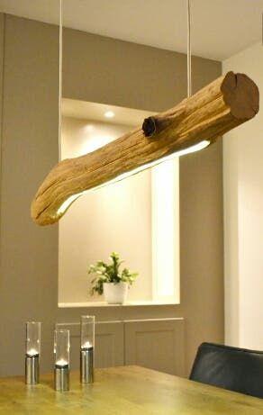 decorazioni fai da te lampadario legno