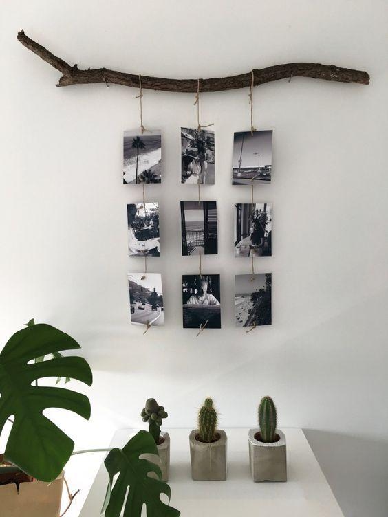 decorazioni fai da te portafoto legno