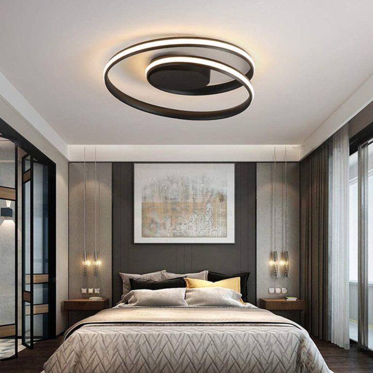 lampadario circolare per camera da letto moderna