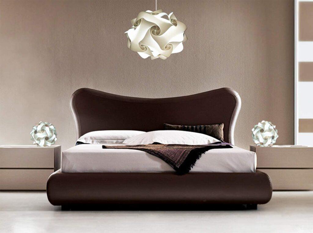 lampadario sferico per camera da letto moderna