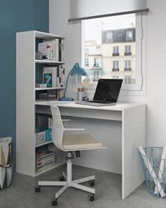 scrivania salvaspazio con libreria