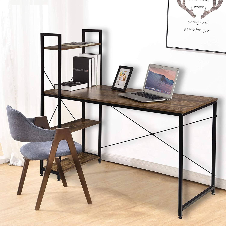 scrivania stile industriale scura